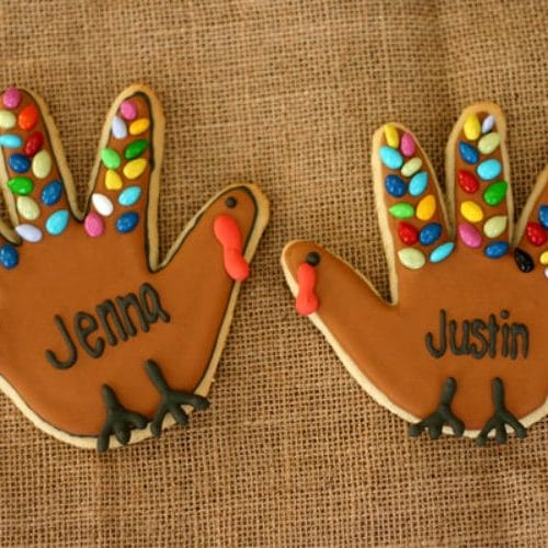 Handprint Turkey Cookie