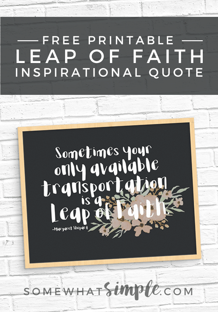 Leap of Faith Free Printable