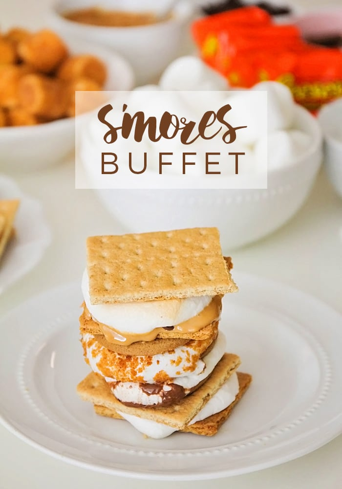 Food and Drink : S'mores Buffet via @somewhatsimple