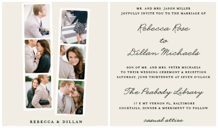 affordable wedding invitations our top picks somewhat simple