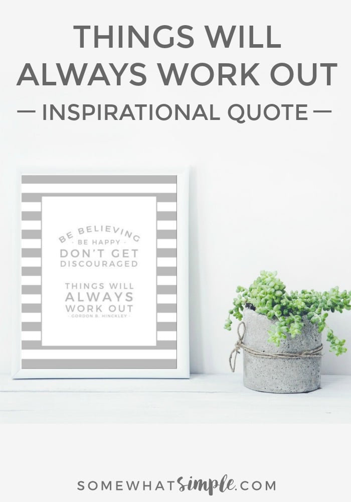 PRINTABLE QUOTE - I love this simple reminder to stay faithful, find happiness, and hang on to hope. via @somewhatsimple