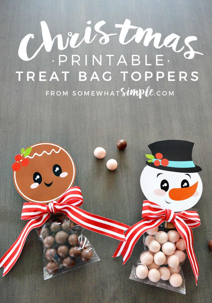 DIY Christmas Treat Bag Toppers Printable