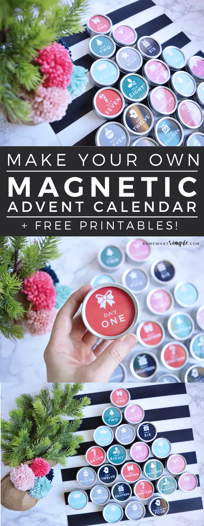 We can't get enough of this darling magnetic advent calendar! With a few simple supplies, you'll have a genius countdown you can't wait to use every year!