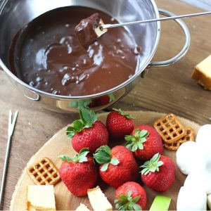 Easy Chocolate Caramel Fondue