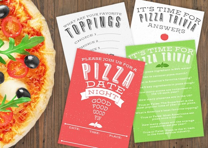 Pizza Date Night Printables + Ideas