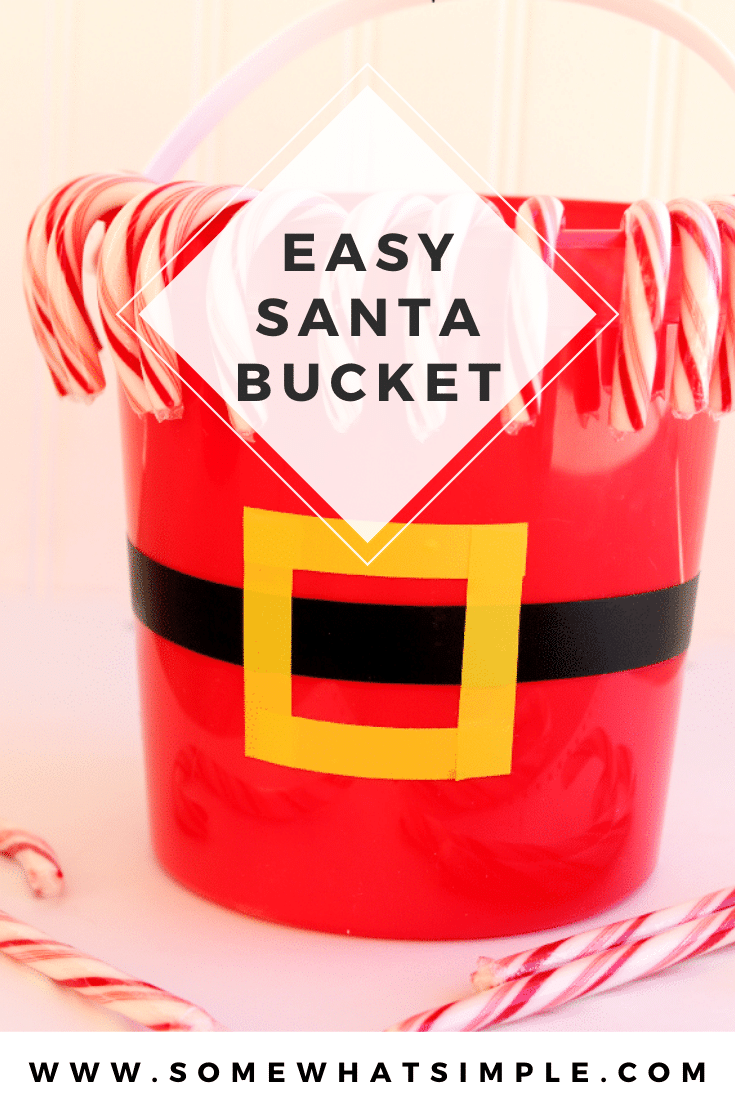 These Santa Claus buckets are a fun and festive activity to do during the holidays. The supplies only cost about $3, so it's inexpensive too. They're the perfect accessory to have around the house during Christmas. via @somewhatsimple
