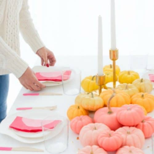 Thanksgiving Decorations - Bright Colored Centerpiece