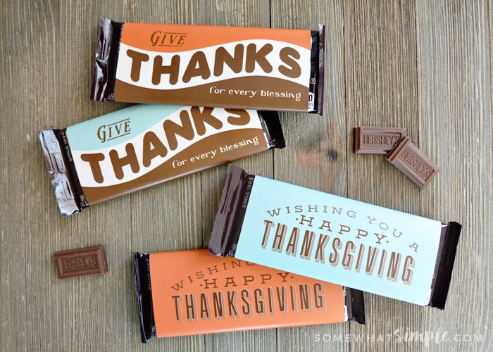 Thanksgiving Candy Bar Wrappers Printable