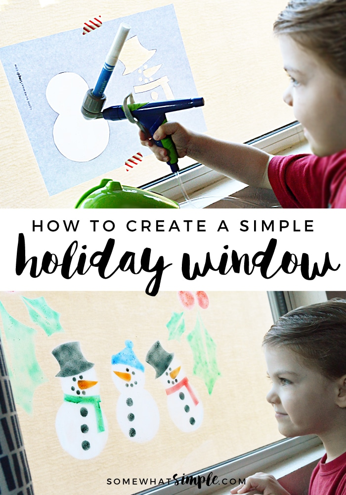 The perfect tool to create festive window displays that will add holiday cheer to any room! via @somewhatsimple