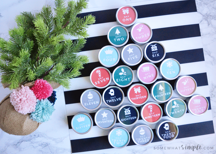 Magnetic Advent Calendar Tutorial + FREE Printables!