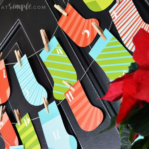 Christmas stocking countdown