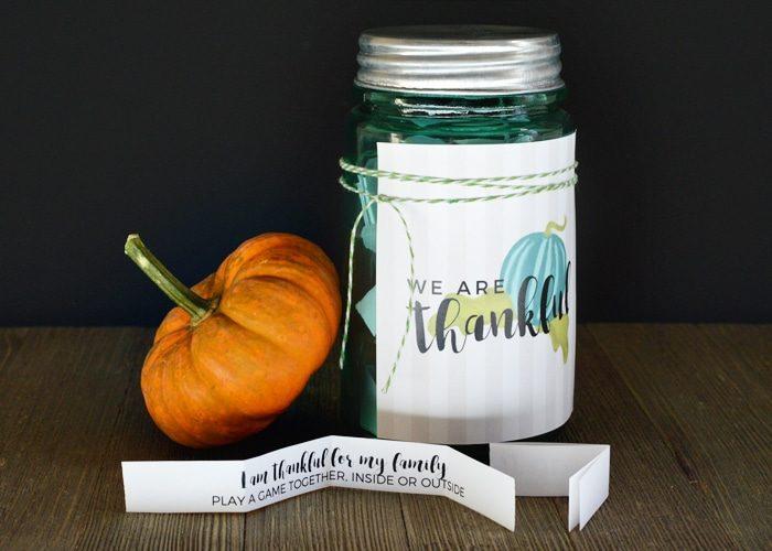 Thanksgiving Countdown Jar + Printables