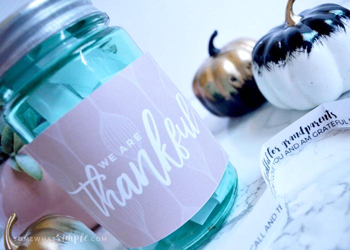 Thankful Jar | Thanksgiving Home Decor Ideas