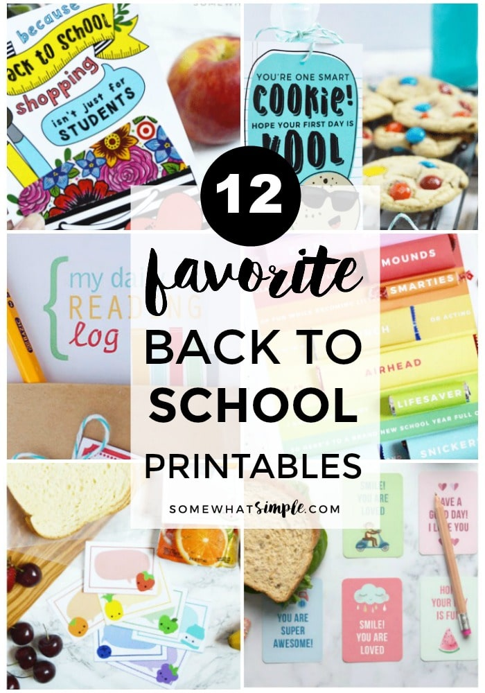 Get ready for the start of school with these darling Back to School Printables! via @somewhatsimple