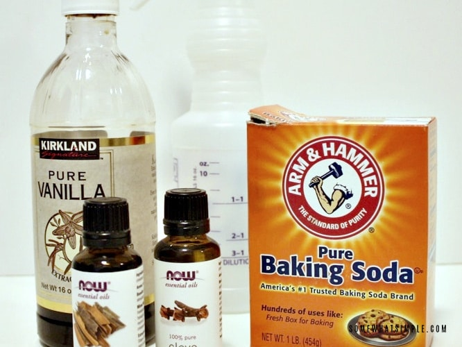 baking soda, vanilla and essential oils