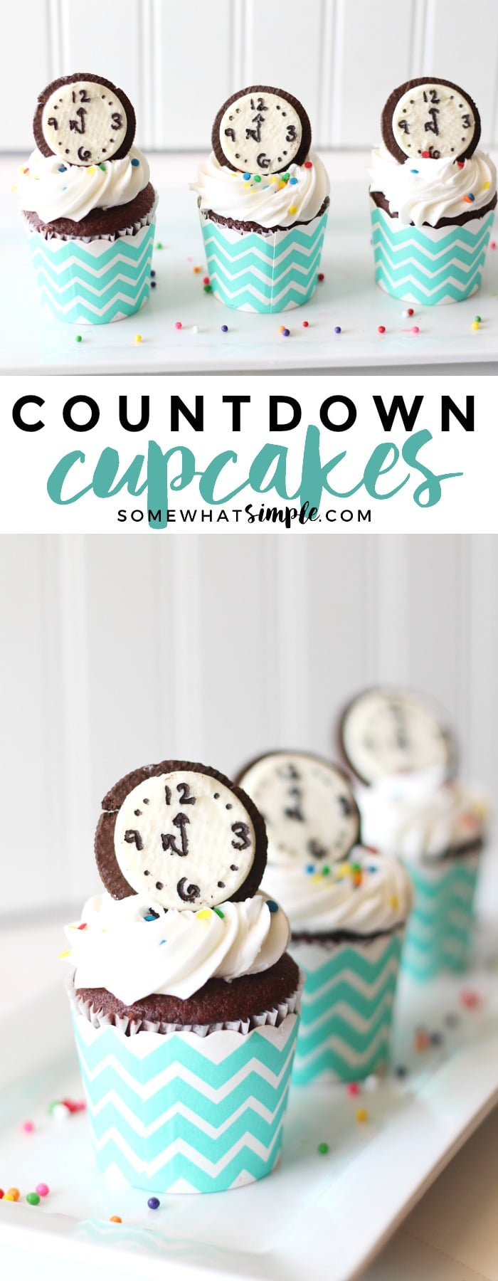Festive New Years Cupcakes your party guests will love - Countdown Cupcakes!