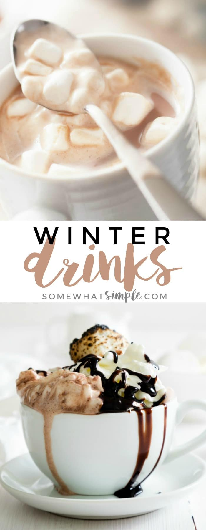 From caramel apple cider to gingerbread hot chocolate, these delicious winter drinks are bound to keep you warm and satisfied during these colder winter months!