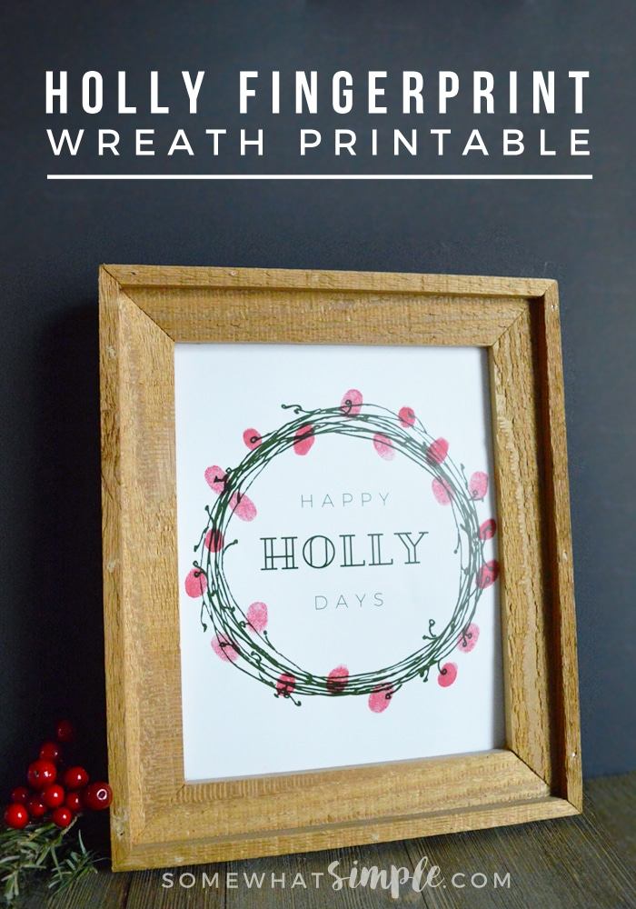 Our Christmas Fingerprint Wreath would make the perfect gift for grandparents, or just a beautiful keepsake that you pull out every year! via @somewhatsimple