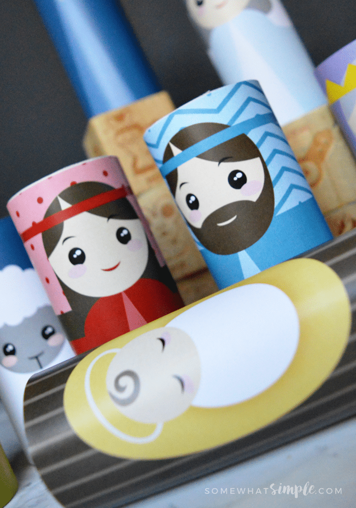 Easy toilet paper roll Christmas nativity set