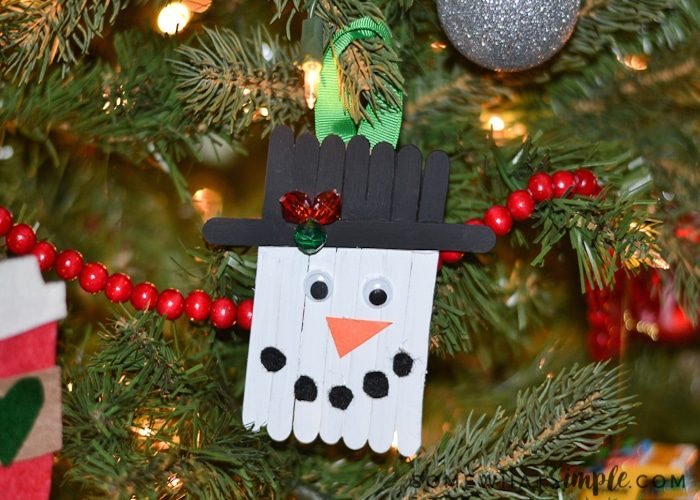 Christmas Ornament Craft With Popsicle Sticks For Kids