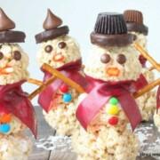 Snowman Rice Krispie Treats