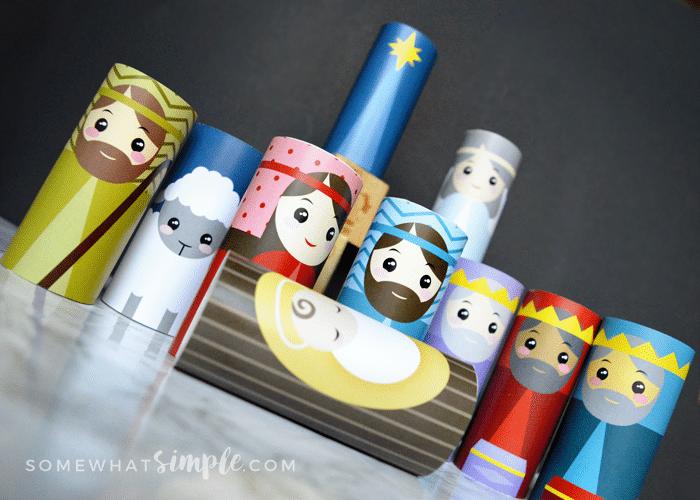 Toilet Paper Roll Christmas Nativity Set