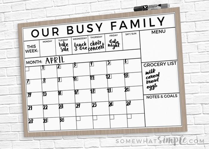 command center calendar