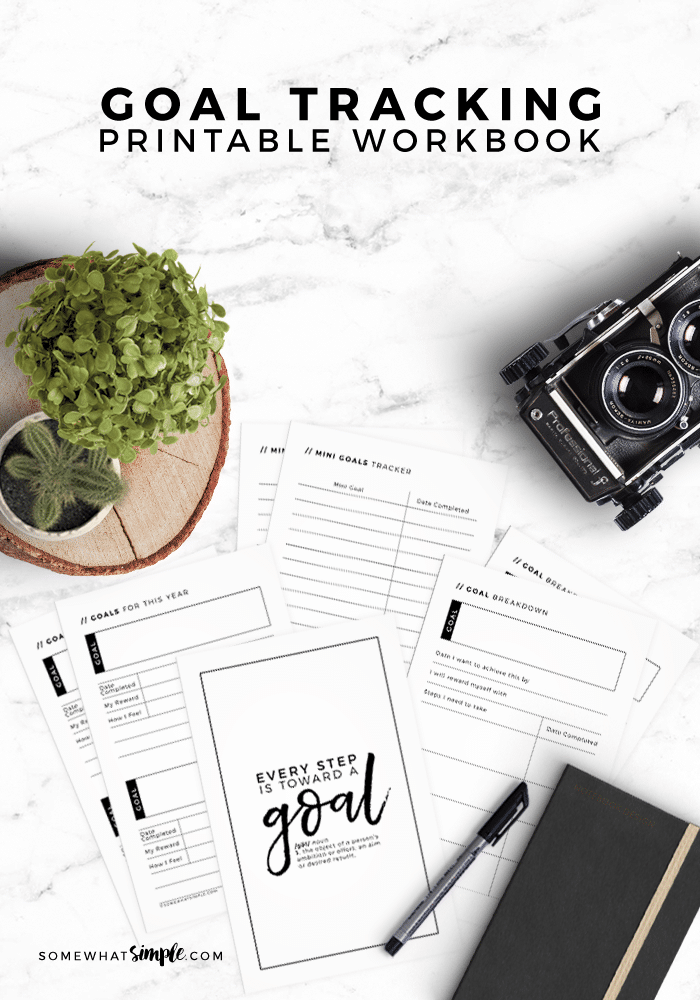 picture regarding Goal Tracker Printable called Printable Purpose Magazine - Function Tracker Workbook - To some degree Basic