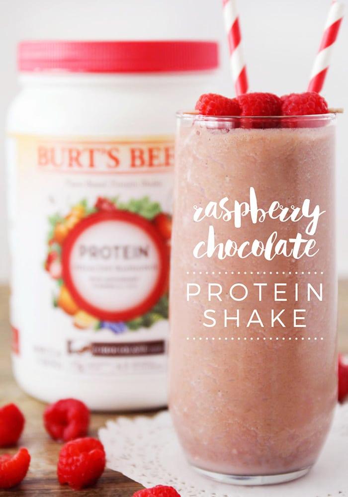 Raspberry Chocolate Protein Shake
