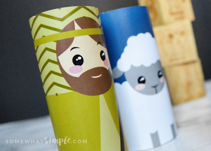 Toilet Paper Roll Nativity Craft Printables Somewhat Simple