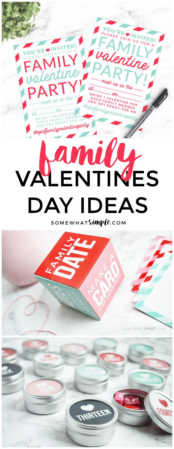 The ULTIMATE family Valentines Day ideas + darling printables to make your preparations simple and FUN!