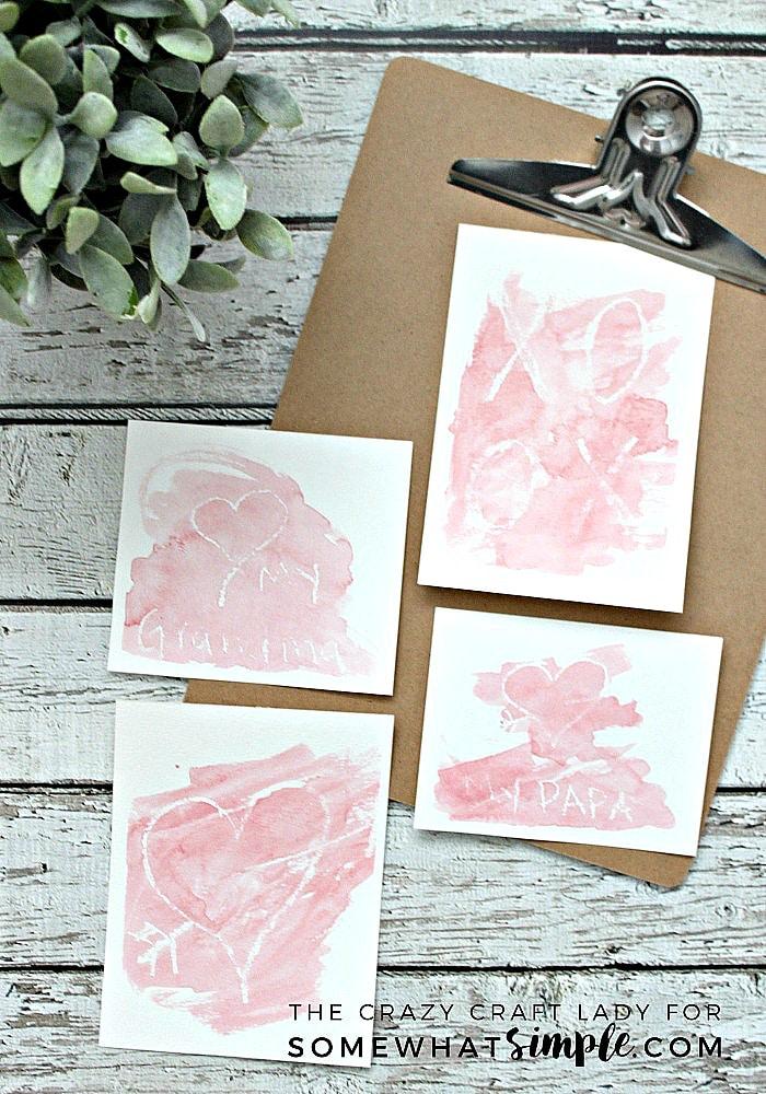 DIY Handmade Watercolor Valentine Craft for Kids