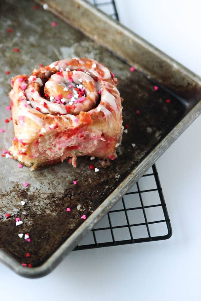 These funfetti Valentines cinnamon rolls make for a super festive and delicious holiday treat!
