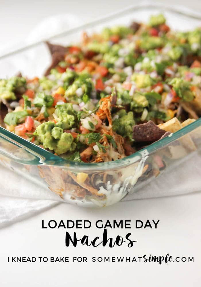 These game day loaded nachos are packed full of flavor, easy to make, and perfect for sharing with friends!