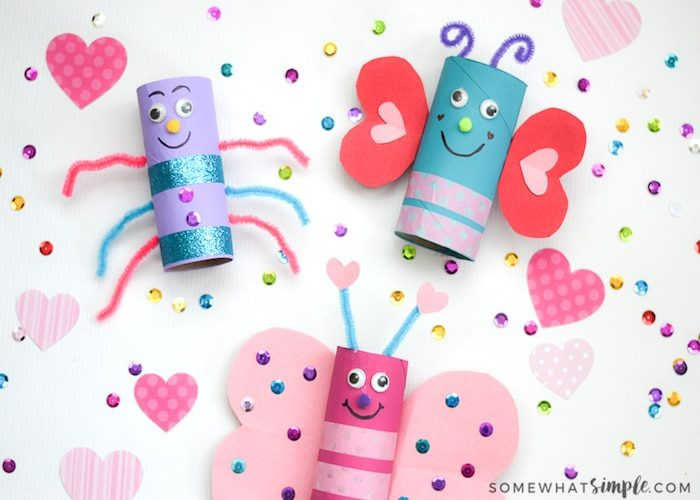 creative valentines day | LOVE BUGS VALENTINES DAY CRAFT FOR KIDS by SomewhatSimple.com