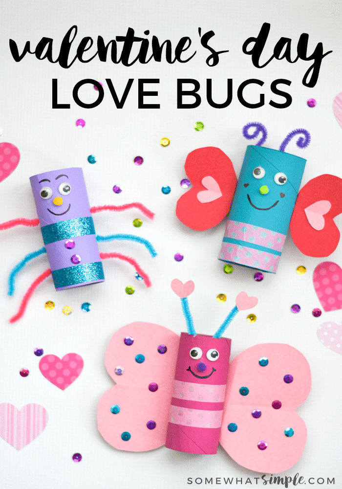 Love Bugs Valentines Day Craft For Kids Somewhat Simple