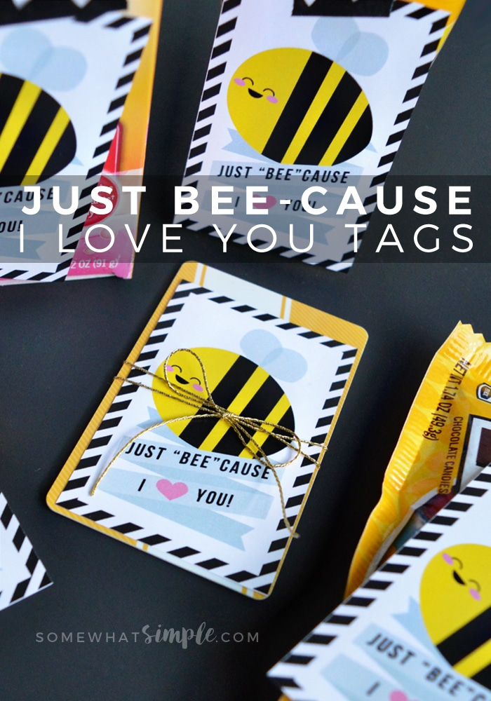 Just BEE-cause I love you tags - perfect for any occasion!