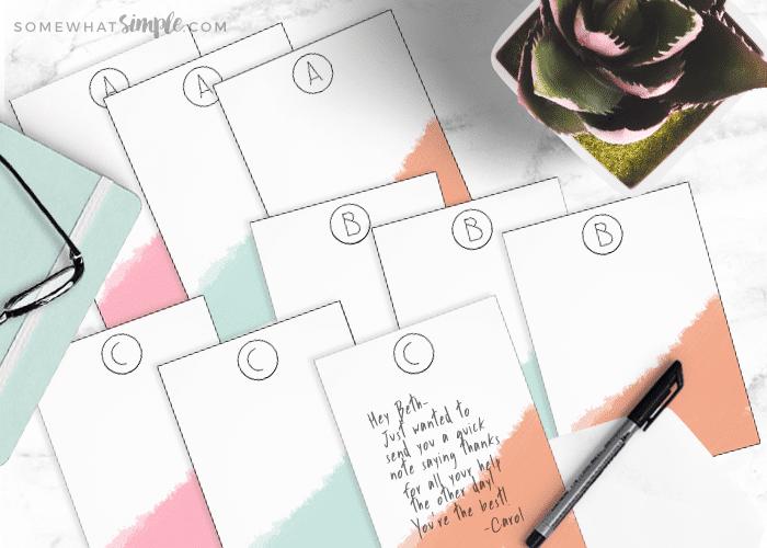 Monogram Note Cards – Printable Gift Idea