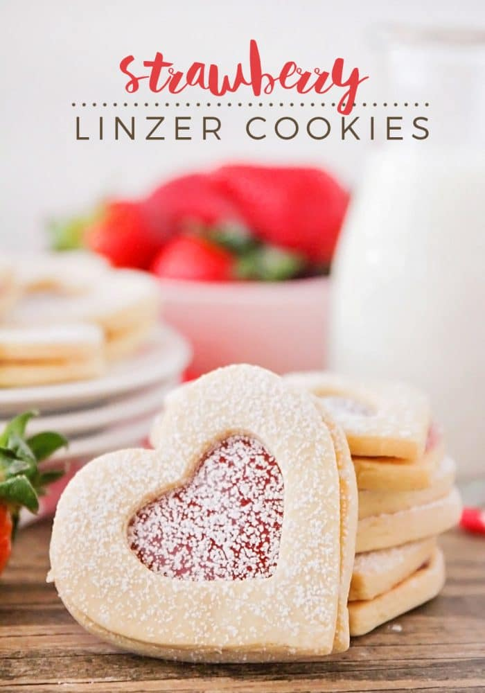 These beautiful and delicious strawberry linzer cookies are simple to make, and perfect for sharing with those you love!