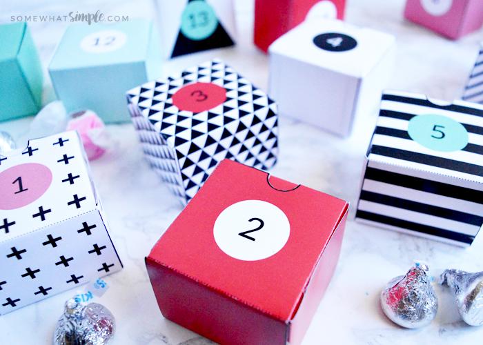 Valentine Advent Calendar – Box Printables