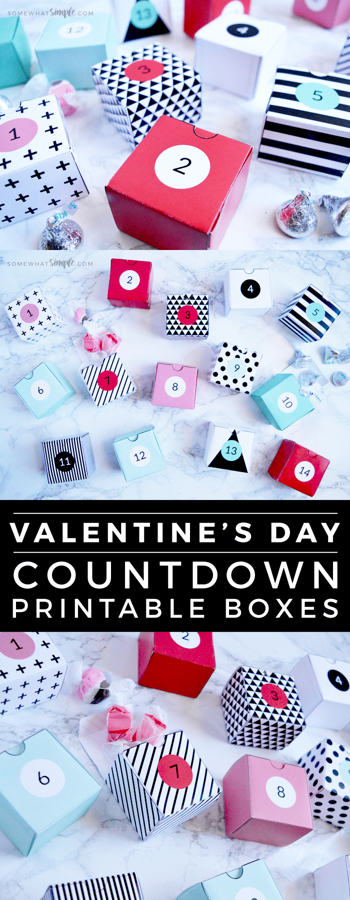 This Valentines Day Countdown is a simple way to make someone feel extra special this year! Countdown to the day of love with these fun printables! #valentines #printables #free #countdown via @somewhatsimple