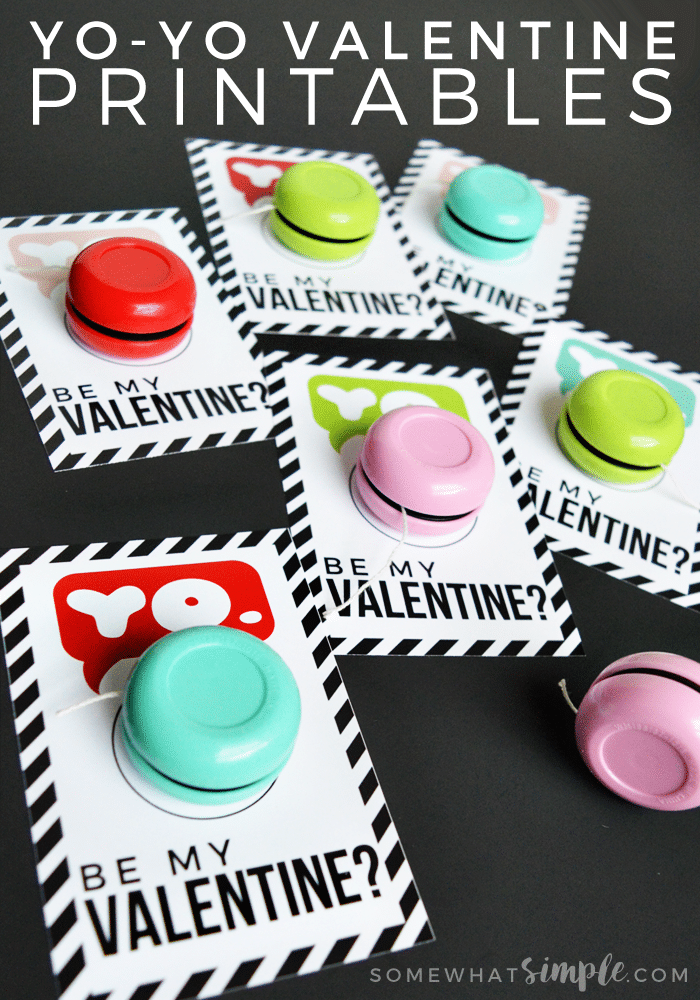 Yo-Yo Valentine Printables - So simple. So cute.
