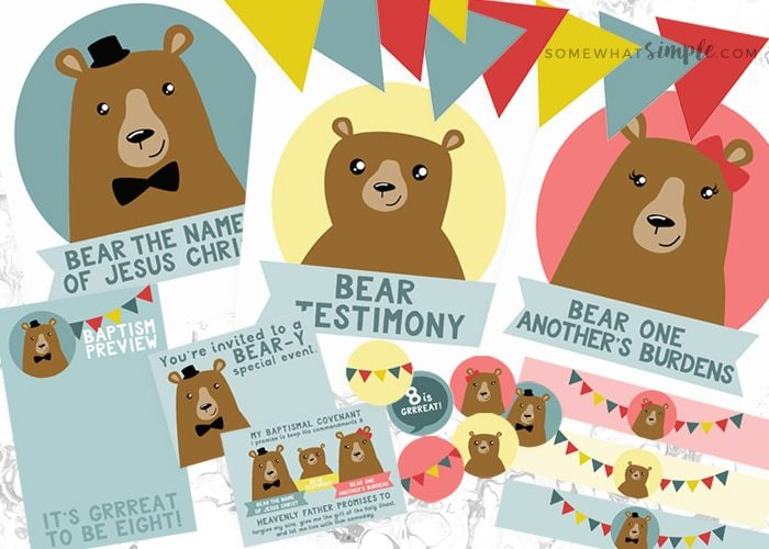 8 is Great – The Three Bears of Baptism Printables Kit