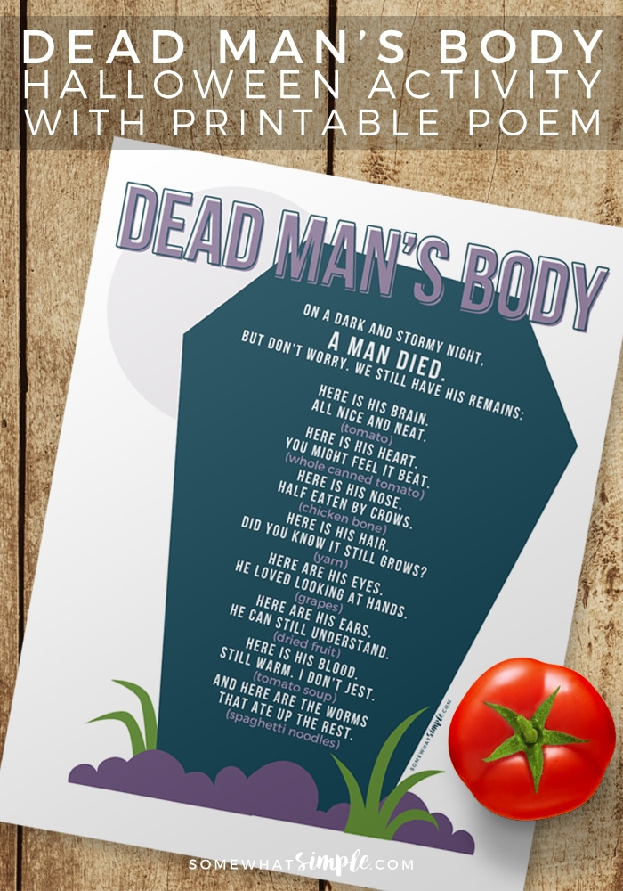 Dead Mans Body - Halloween Games for Kids - Somewhat Simple