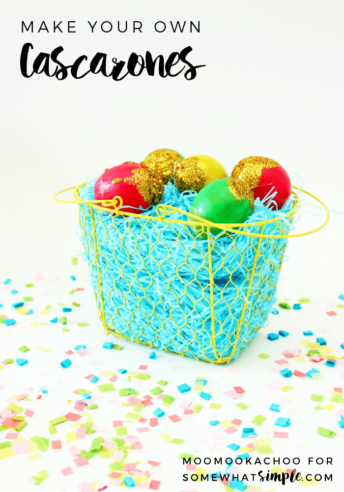 Cascarones are brightly coloured, confetti filled eggs - perfect for your next party or celebration! via @somewhatsimple