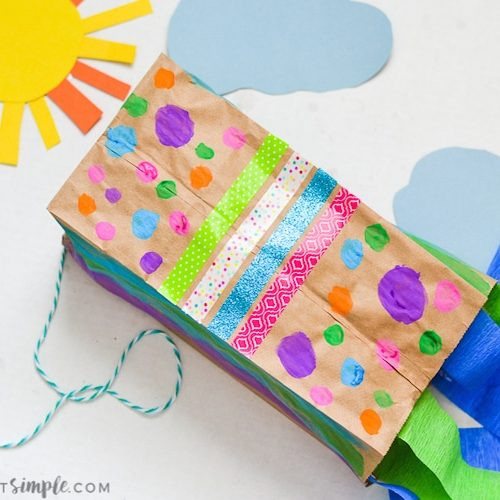 The kids will have so much fun decorating and making their very own paper bag kite - just in time for spring!