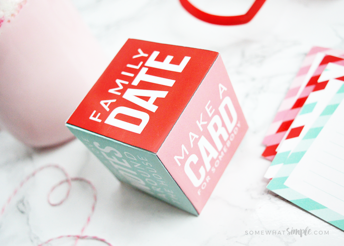 Valentine Games – Family Activity Cube Printable