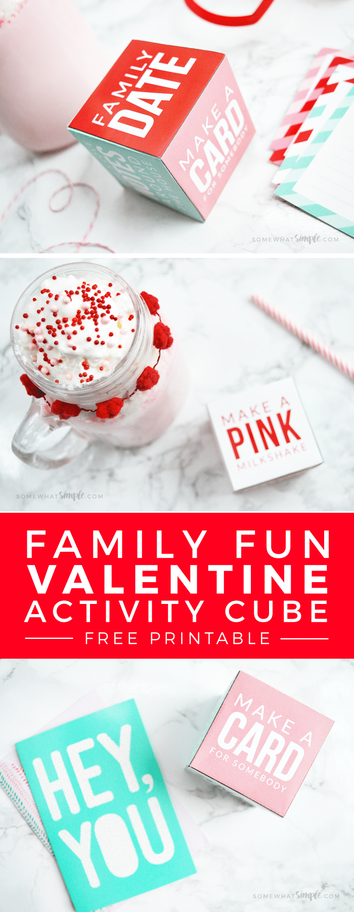 Valentine's Day Activity Cube - Print off this simple but fun FREE PRINTABLE activity cube for some family #ValentinesDay fun! #family #love