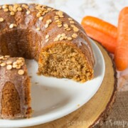A super soft and flavourful Carrot Bundt Cake topped with a sweet glaze; perfect with your afternoon coffee or just because you fancy cake!