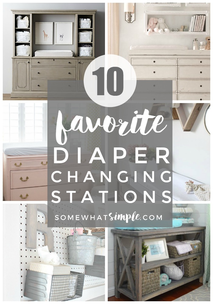 These Diaper Changing Stations are a great way to find beauty in a messy situation!  via @somewhatsimple